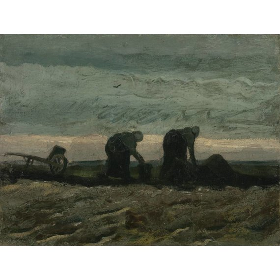 Women working on the Peat Moor - Card / A4 reproduction
