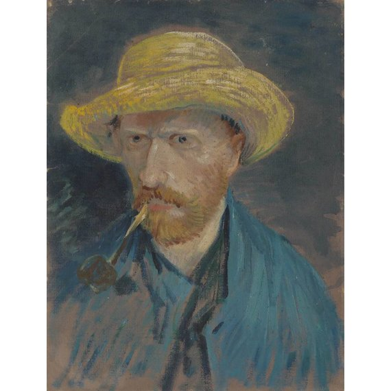 Self-Portrait with Straw Hat and Pipe - Book / Magazines / Flyer