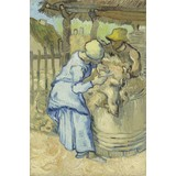 The Sheepshearer (after Millet) - Card / A4 reproduction