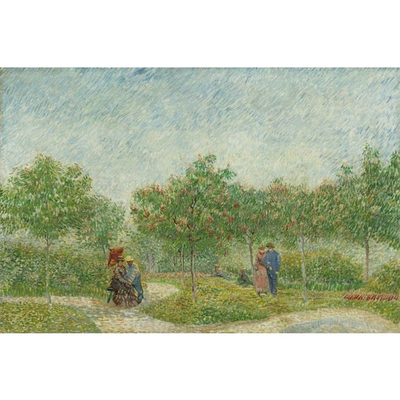 Garden with Courting Couples: Square Saint-Pierre - Card / A4 reproduction