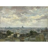 View of Paris - Card / A4 reproduction