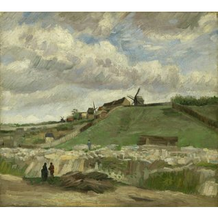 The Hill of Montmartre with Stone Quarry - Card / A4 reproduction