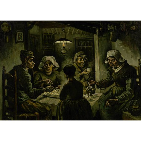 The Potato Eaters - Card / A4 reproduction