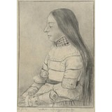 The Daughter of Jacob Meyer (after Bargue after Holbein) - Card / A4 reproduction