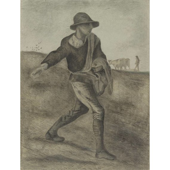 The Sower (after Millet) - Book / Magazine / Flyer