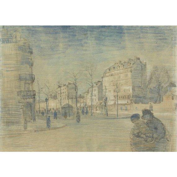 The Boulevard de Clichy - Card / A4 reproduction