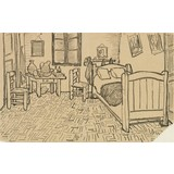 The Bedroom, enclosed Sketch in a Letter written to Theo van Gogh - Book / Magazines / Flyer
