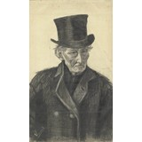 Old Man with a Top Hat - Card / A4 reproduction