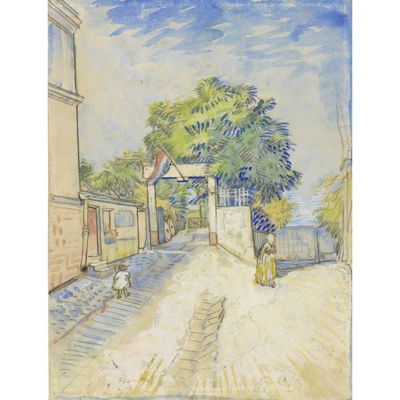 Entrance to the Moulin de la Galette - Card / A4 reproduction
