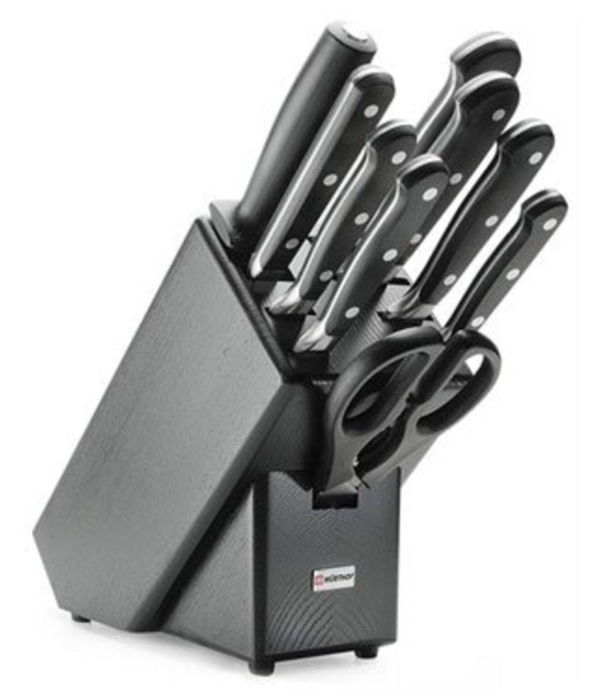 Wusthof Classic messenblok gevuld 9 delig zwart