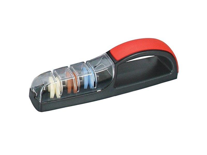 Global Minosharp waterslijper zwart-rood 'Plus3'