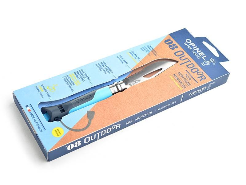 Opinel Couteau Outdoor nr 8 blauw