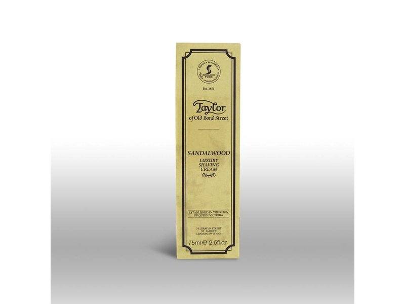 Taylor of Old Bond Street scheercrème in tube - Sandalwood - 75ml