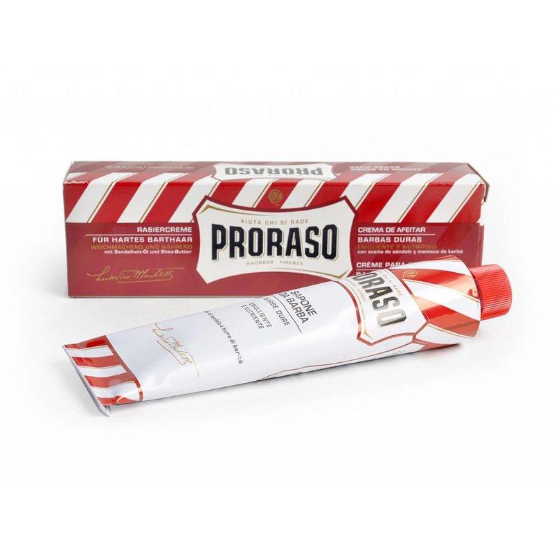 Proraso scheercrème in tube voor harde baarden