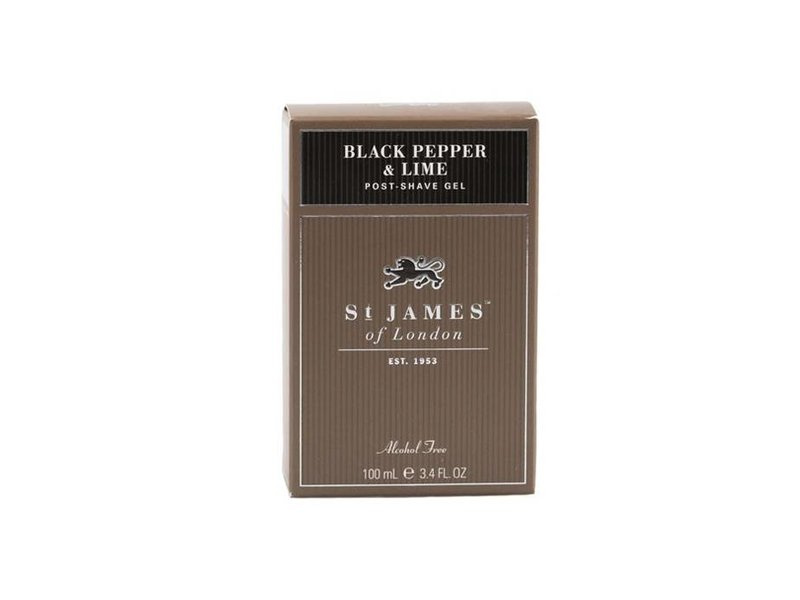 St James of London Black Pepper & Lime Aftershave Gel