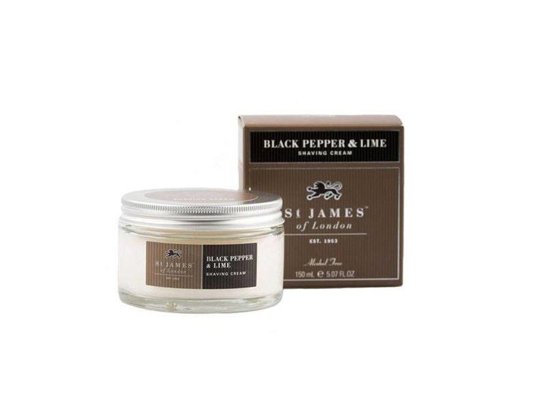 St James of London Black Pepper & Lime scheercrème