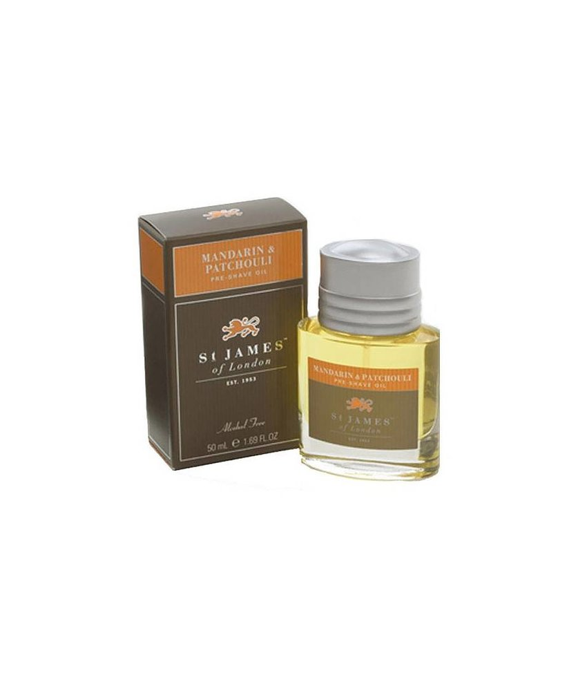 St James of London Mandarin & Patchouli Preshave oil