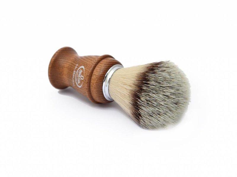 Omega Fibre scheerkwast - houten heft - met houder