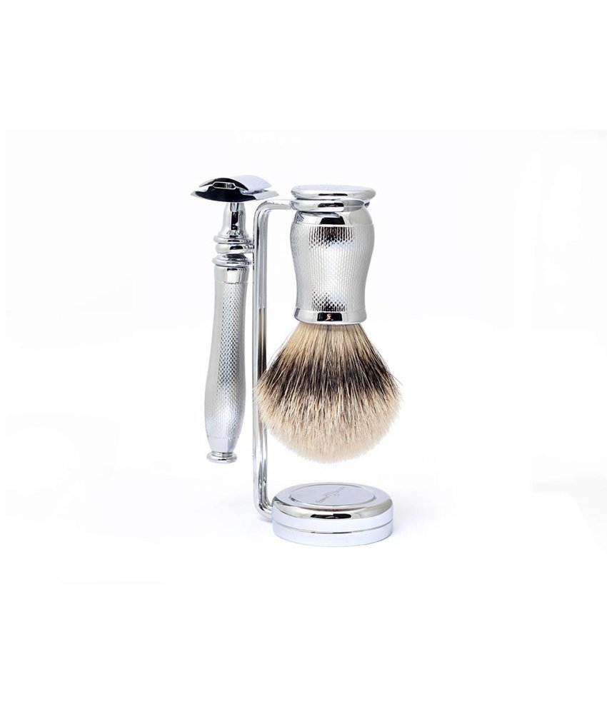 Edwin Jagger Chatsworth Barley Silver Tip 3-delige safety razor set