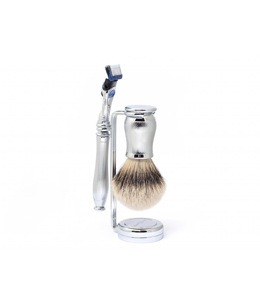 Edwin Jagger Chatsworth Barley Silver Tip 3-delige Gillette Fusion set