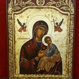 Handgemaakte Grieks Orthodox icoon