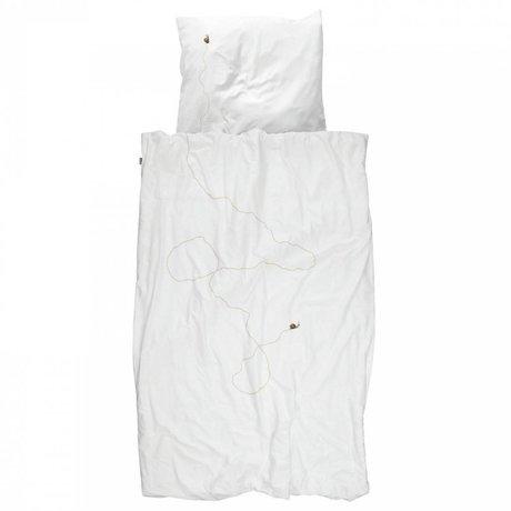Snurk Beddengoed Children's Well Snail white brown cotton 140x200 / 220cm-60x70cm