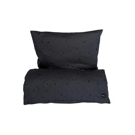 OYOY Children's Well-Dot black cotton 100x140cm 45x40cm