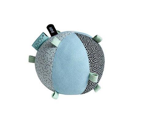 OYOY Kinderbal puzzle blauw katoen 10cm