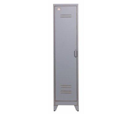 LEF collections Kinderkast 'Max 1' grijs metaal 182x42x50cm