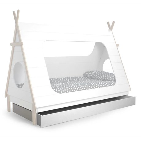 LEF collections Bedlade t.v.b. Tipi bed wit grenen 204,8x9x16cm