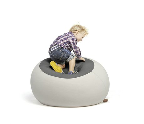 Terapy Kinderzitzak Stanley licht grijs donker grijs 70x70x80cm 320liter