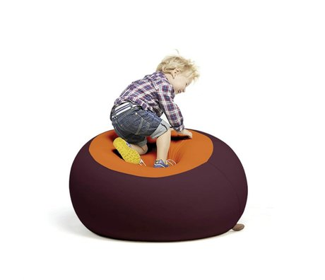 Terapy Kinderzitzak Stanley aubergine oranje 70x70x80cm 320liter