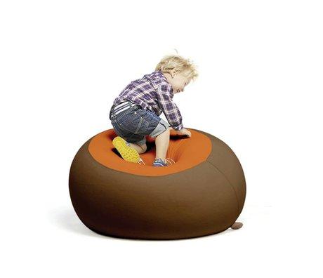 Terapy Kinderzitzak Stanley bruin oranje 70x70x80cm 320liter