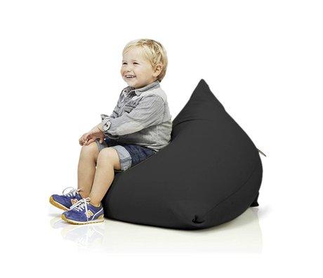 Terapy Kinderzitzak Sydney pyramide zwart katoen 60x60x60cm 130liter