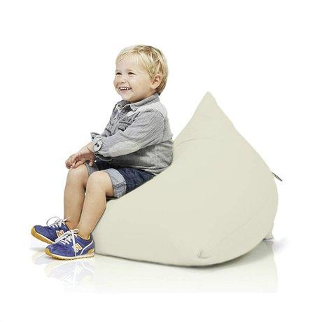 Terapy Kinderzitzak Sydney pyramide gebroken wit katoen 60x60x60cm 130liter