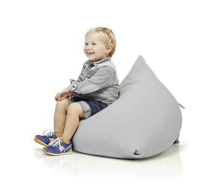 Terapy Children Beanbag Sydney pyramid light gray cotton 60x60x60cm 130liter