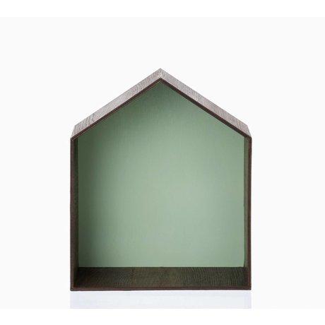Ferm Living kids Kinderpronkkastje Studio 2 bruin/groen 30x35cm