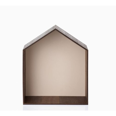 Ferm Living kids Kinderpronkkastje Studio 5 bruin/roze 30x35cm