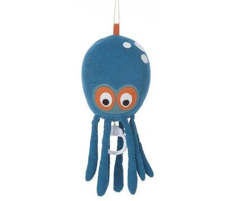 Ferm Living Mobiel Octopus blauw katoen 50x12cm