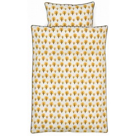 Ferm Living kids Children's bedding Dotty yellow cotton 70x100cm-46x40cm