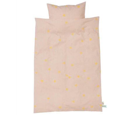 Ferm Living kids Children's Teepee Good pink-yellow cotton 70x100cm 46x40cm