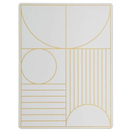 Ferm Living Kinderplacemat Outline gebroken wit hout kurk 40x30cm