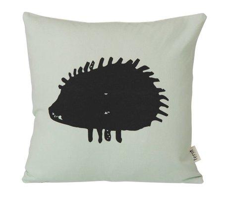 Ferm Living Kinderkussen Hedgehog mint groen 30x30cm