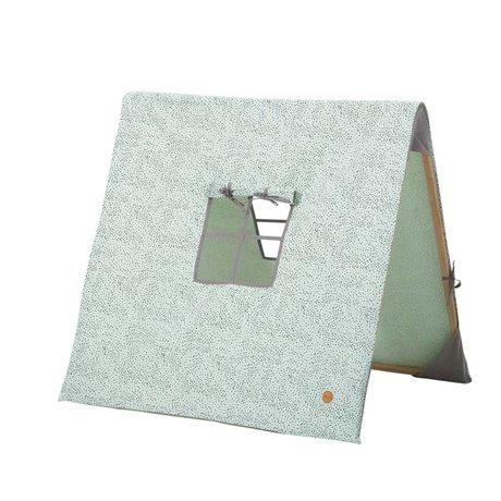 Ferm Living kids Kindertent inklapbaar Dots mint groen katoen/hout 100x100xcm