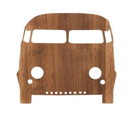 Ferm Living kids Kinderwandlamp auto smoked oak hout 27x22,5cm Car lamp