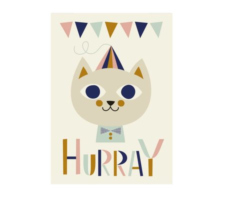 Ferm Living kids Kinderposter mr. cat multicolour 29,7x42cm