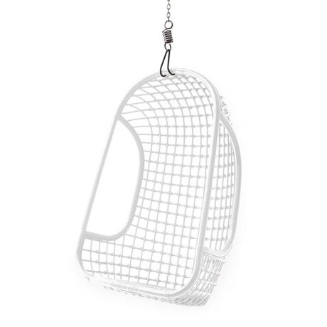 HK-living Kinderhangstoel wit rotan 55x72x110cm