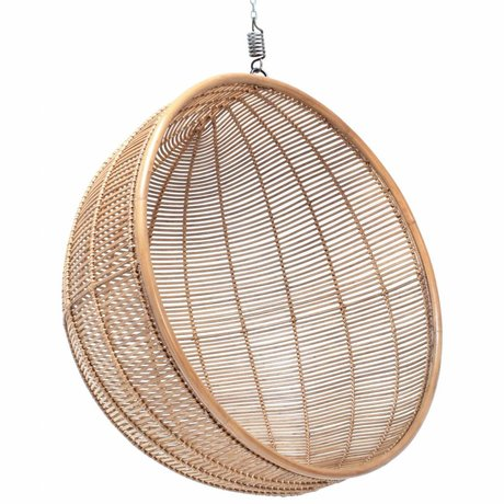HK-living Kinderhangstoel bal rotan licht naturel 108x108x83cm