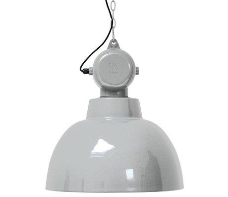 HK-living Kinderhanglamp Factory licht grijs LARGE metaal 50cm