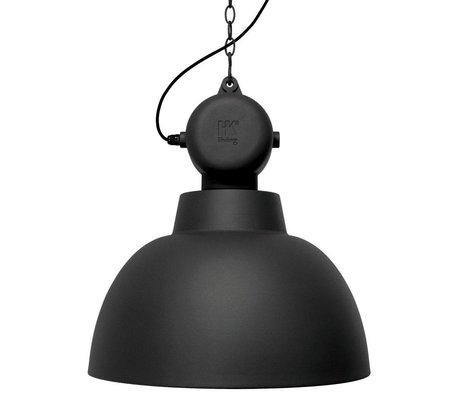 HK-living Kinderhanglamp Factory zwart mat LARGE metaal 50cm